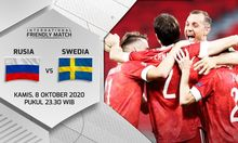 Sesaat Lagi Live Streaming International Friendly Match Rusia vs Swedia di Mola TV Gratis!