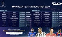 Link Live Streaming: Matchday 4 Fase Grup Liga Champions 2020-2021