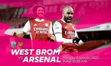 LINK LIVE STREAMING West Brom vs Arsenal di Mola TV