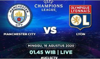 LINK Live Streaming Liga Champions Man City vs Lyon