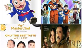 Akhir Pekan Bersama Ninja Hatori, Dragon Ball, Si Doel The Movie, dan MasterChef Indonesia di RCTI