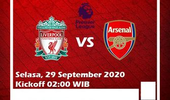 Link Live Streaming Liverpool VS Arsenal di Mola TV , Kedua Tim Sama Sama Kantongi Kemenangan