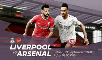 Sedang Berlangsung, Liverpool Vs Arsenal 29 September 2020, Live Streaming Disini