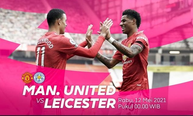 Link Live Streaming Manchester United vs Leicester City Malam Ini Pukul 00:00 WIB