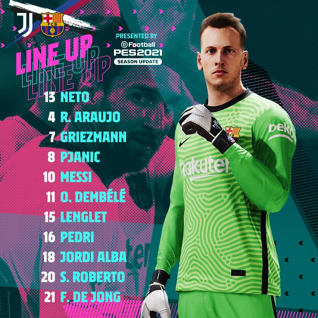 40 Formation Line Up Barcelona Vs Juventus Pictures