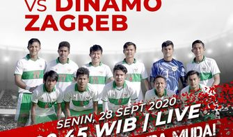 Indonesia vs Dinamo Zagreb, Link Live Streaming  Mola TV Malam ini